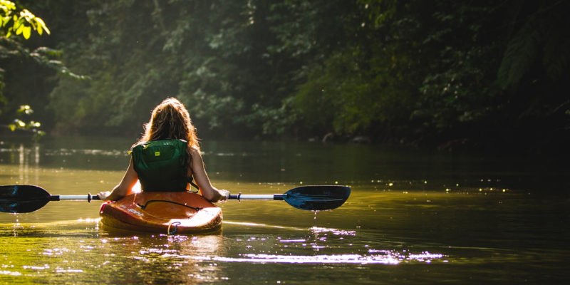 kayaking as an adventure sport to keep you fit.