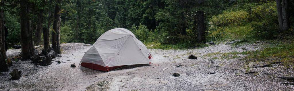 Camping in the rain or sleet